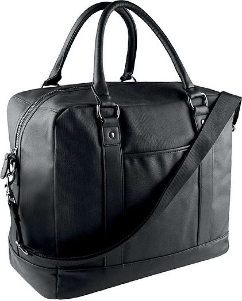 COATED COTTON TRAVEL BAG
