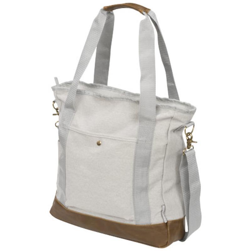 Harper zippered cotton canvas tote bag