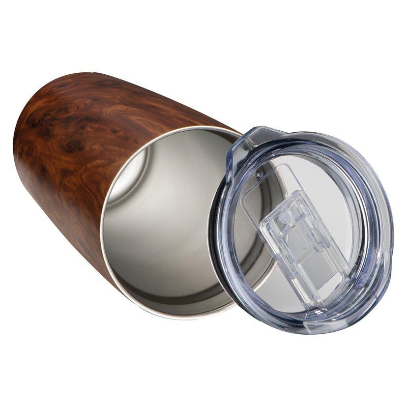Steel mug wooden look Brighton