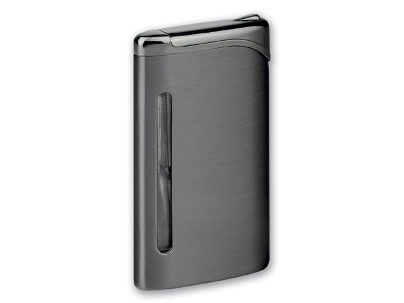 LAUREL metal piezzo lighter, refillable, Gun metal