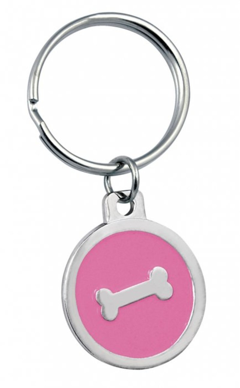 PENDANT PINK BONE - D=32 mm