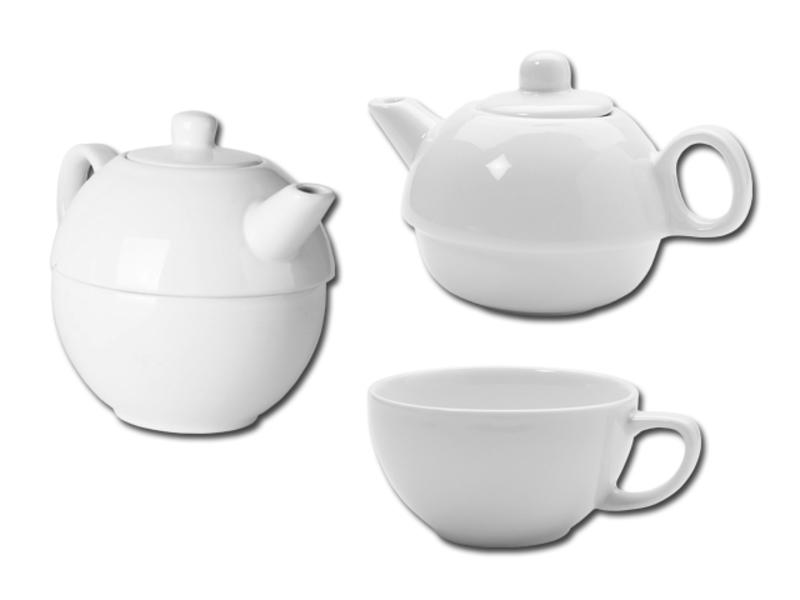 TEASET 2 in 1 teaset 2 in 1, White