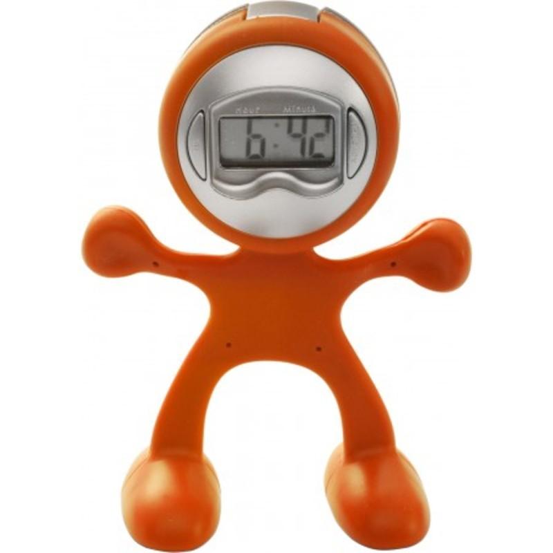 Sport-man clock with alarm