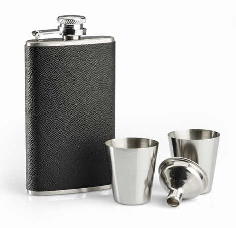 Gift Set MILTON (hip flask120 ml, 2 cups, funnel)