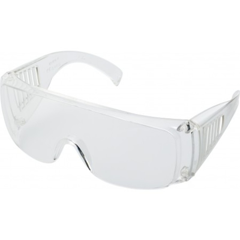 Transparent safety/fireworks glasses