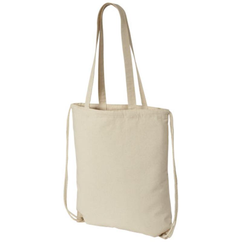 Eliza cotton drawstring backpack