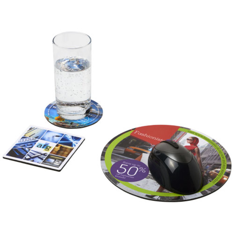 Q-Mat® mouse mat and coaster set combo 4