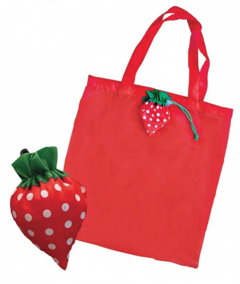 FOLDABLE SHOPPING BAG STRAWBERRY