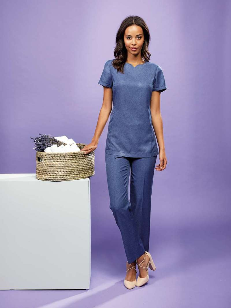 """VIOLA"" LINEN-LOOK CUT NECK BEAUTY TUNIC"