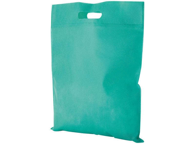 BAG IN TNT GREEN 38X35 cm