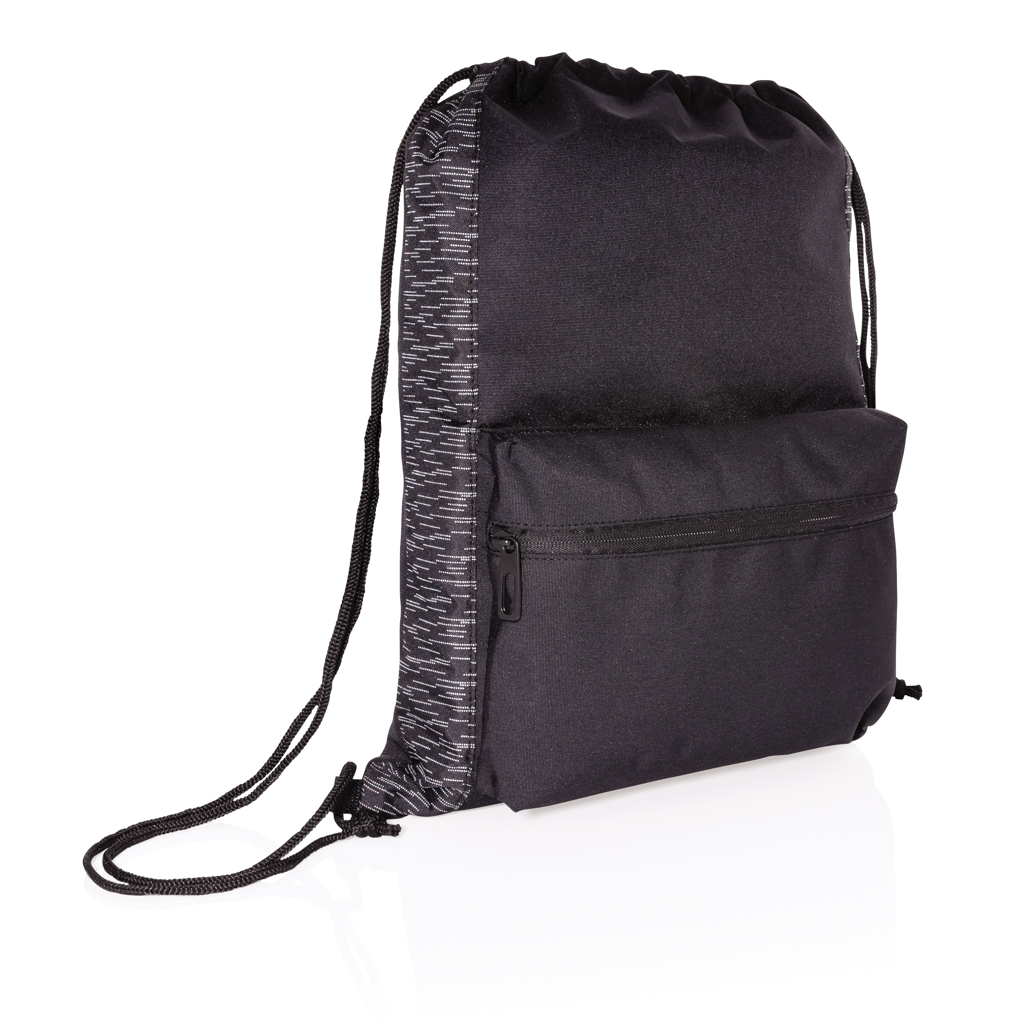 AWARE™ RPET Reflective drawstring backpack