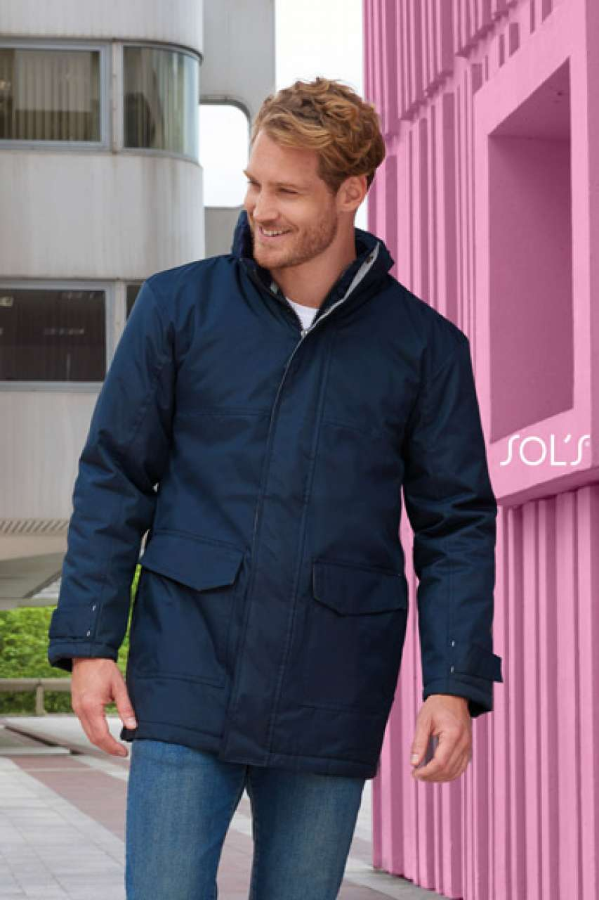 SOL'S RECORD - UNISEX FLEECE LINED PADDED PARKA