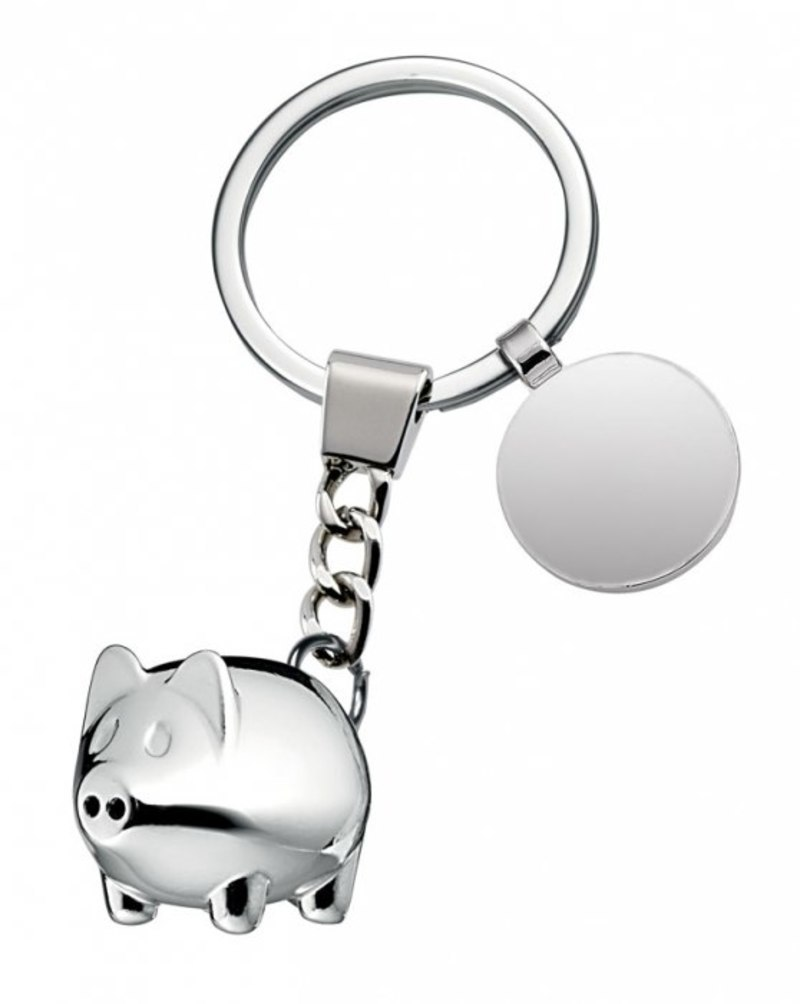 KEYCHAIN LITTLE PIG WITH COIN