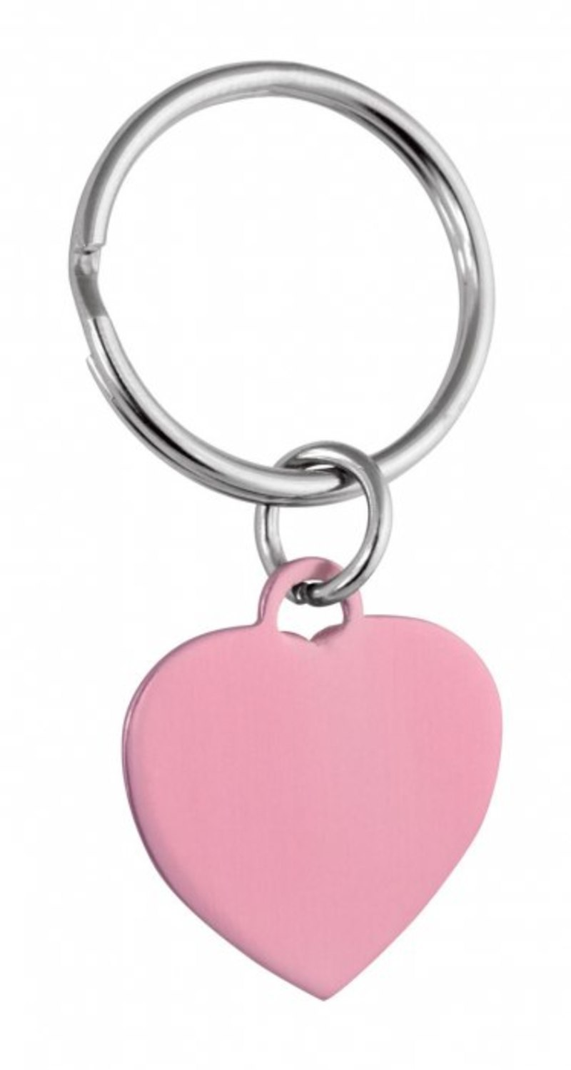 PENDANT PINK HEART - 25x22 mm