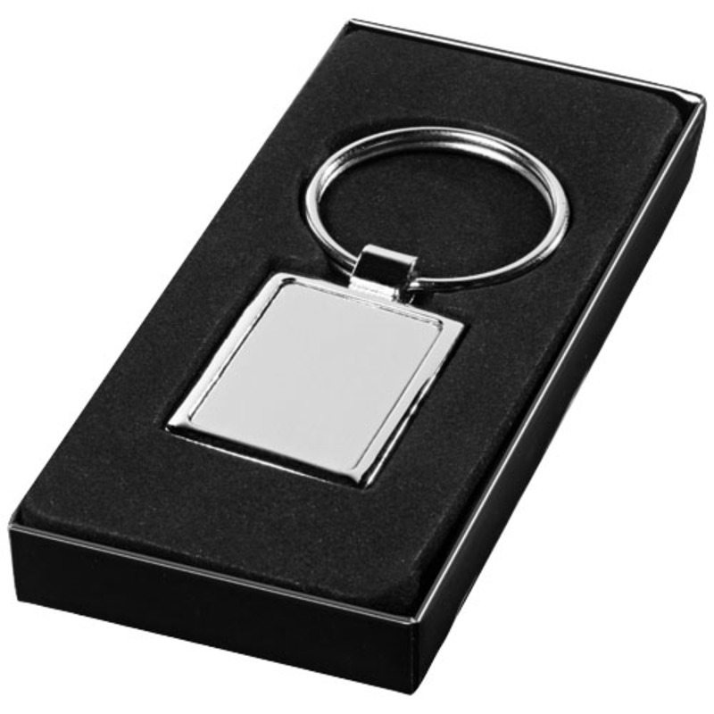 Sergio rectangular metal keychain