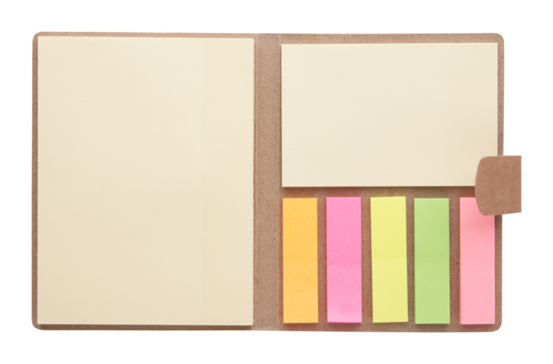 Sizes adhesive notepad
