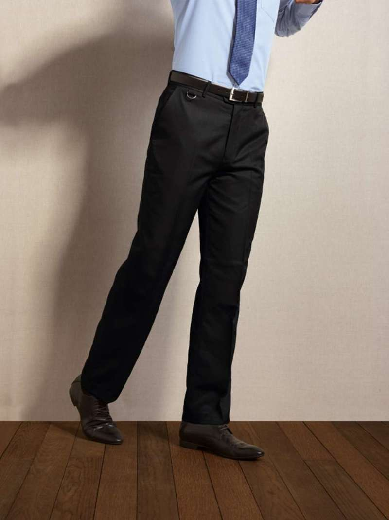 MEN'S LONG FLAT FRONT HOSPITALITY TROUSER
