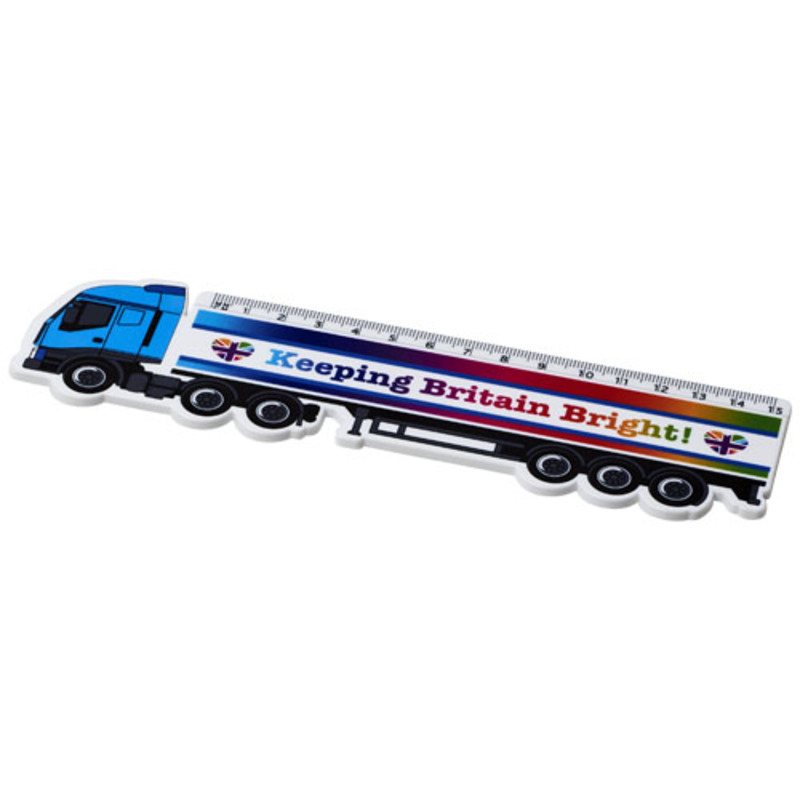 Loki 15 cm lorry shaped plastic ruler