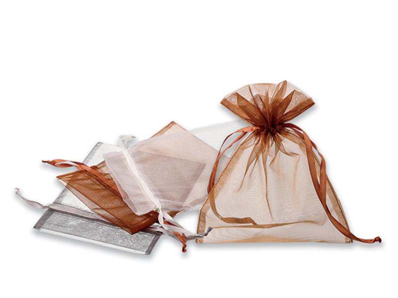 SACHET gift sachet, Satin silver