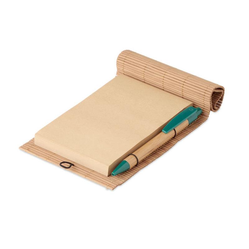 Bamboo 80 sheet notebook & pen
