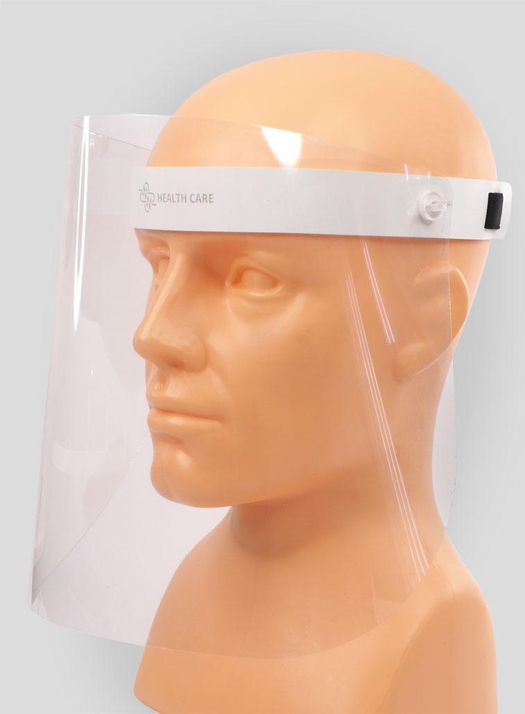 TEMIDA tilting face shield