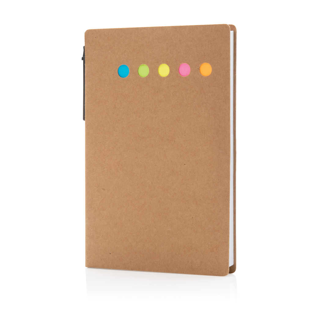 Kraft sticky notes A6 booklet with pen