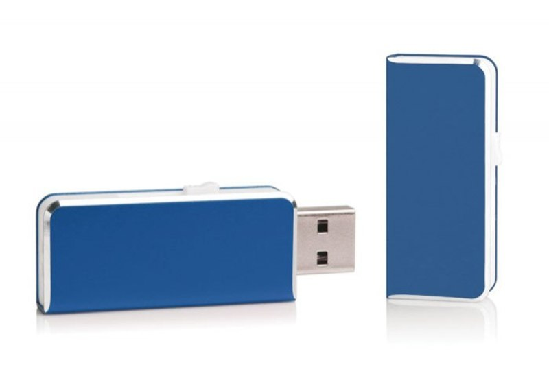 USB ALUMINIUM BLUE 47x20 mm