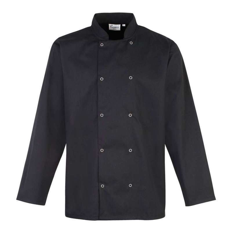 LONG SLEEVE PRESS STUD CHEF'S JACKET