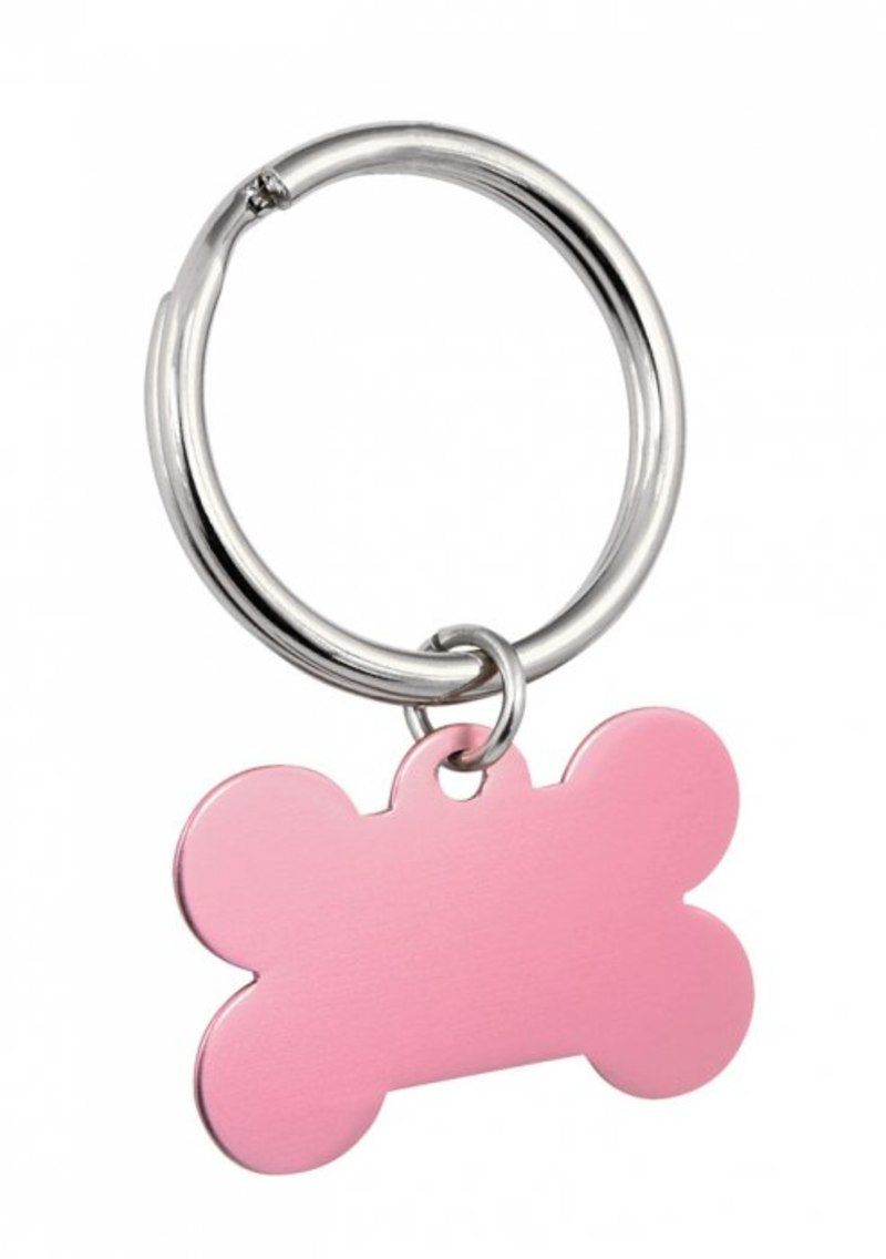 PENDANT PINK BONE - 25x38 mm