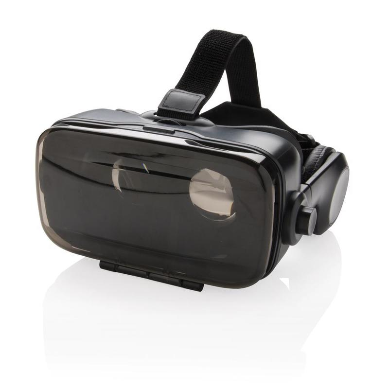 VR glasses with integrated headphone