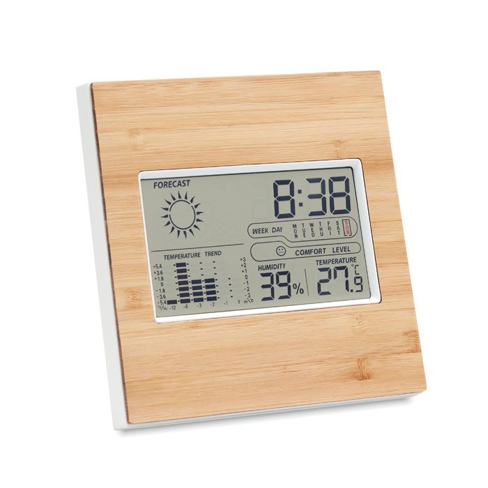 Weather station bamboo front