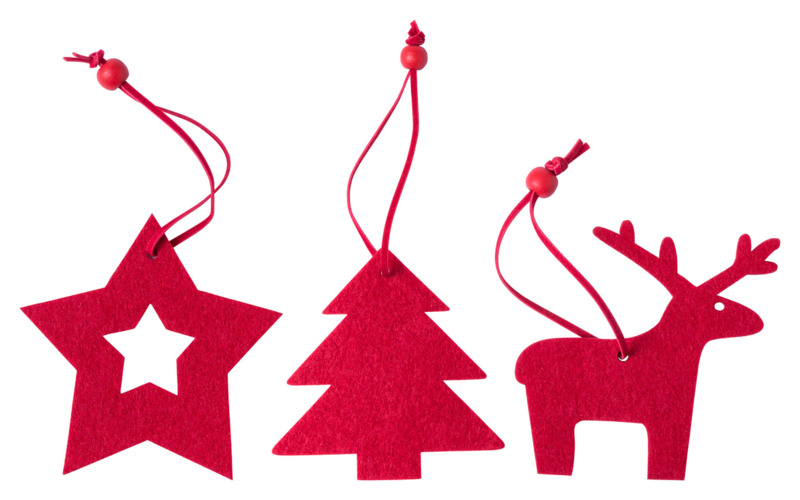Stuck Christmas tree ornament set