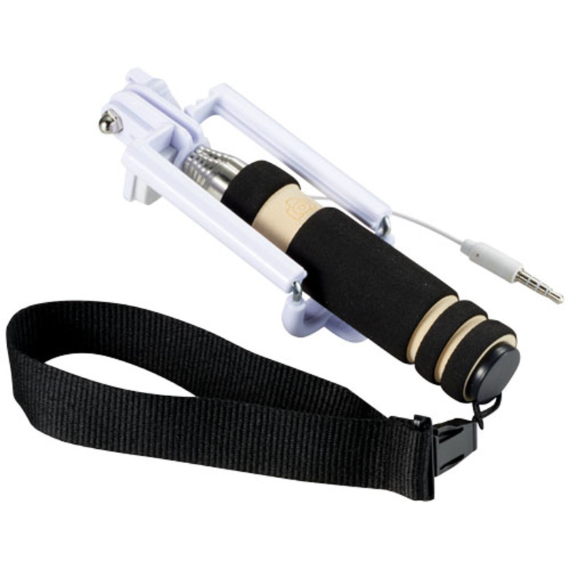 Snaps mini selfie stick with wrist strap