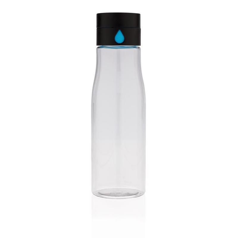 Aqua hydration tracking tritan bottle