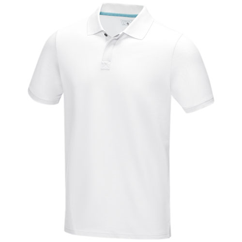 Graphite short sleeve men's GOTS organic polo