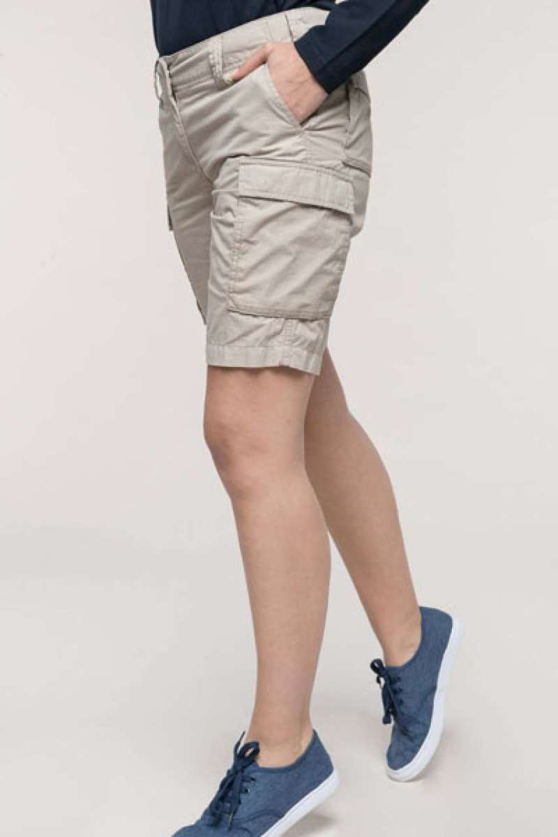 LADIES' LIGHTWEIGHT MULTIPOCKET BERMUDA SHORTS