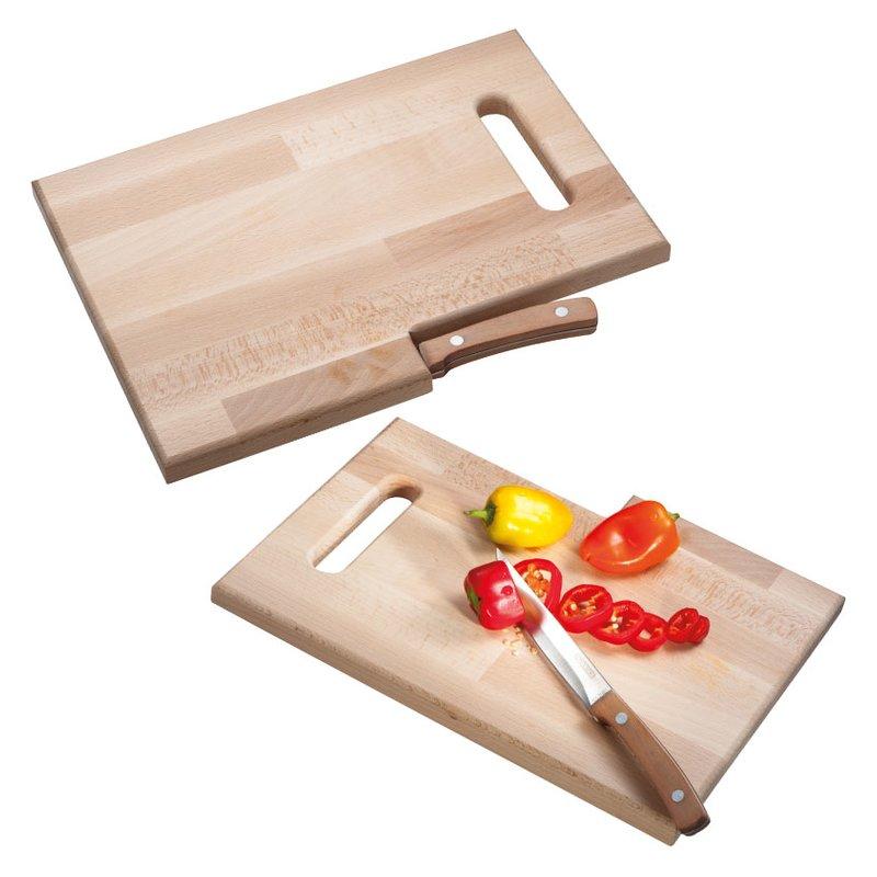 Wooden board & knife Lizzano