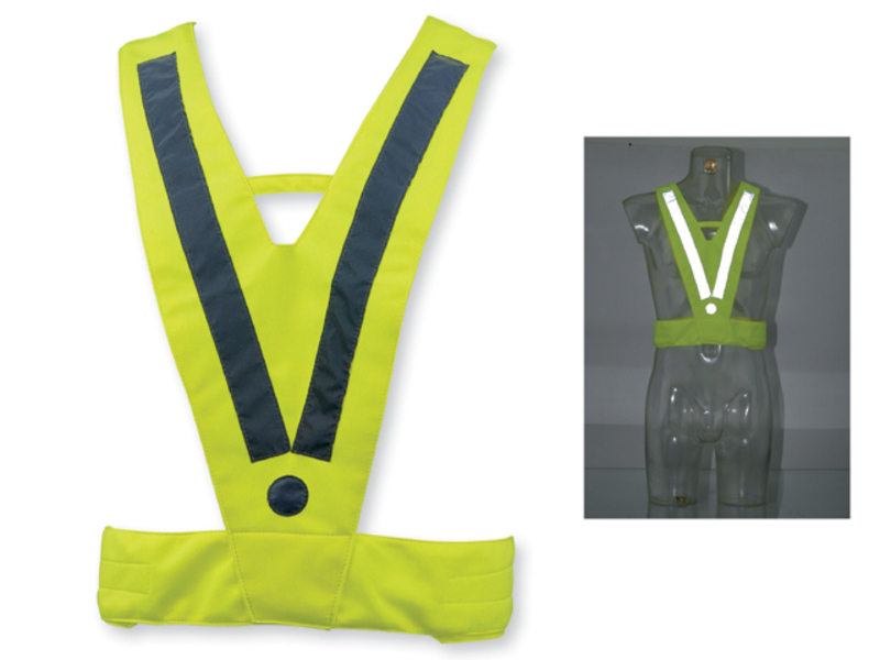 ATILA II polyester safety vest for adults, Hexachrome yellow