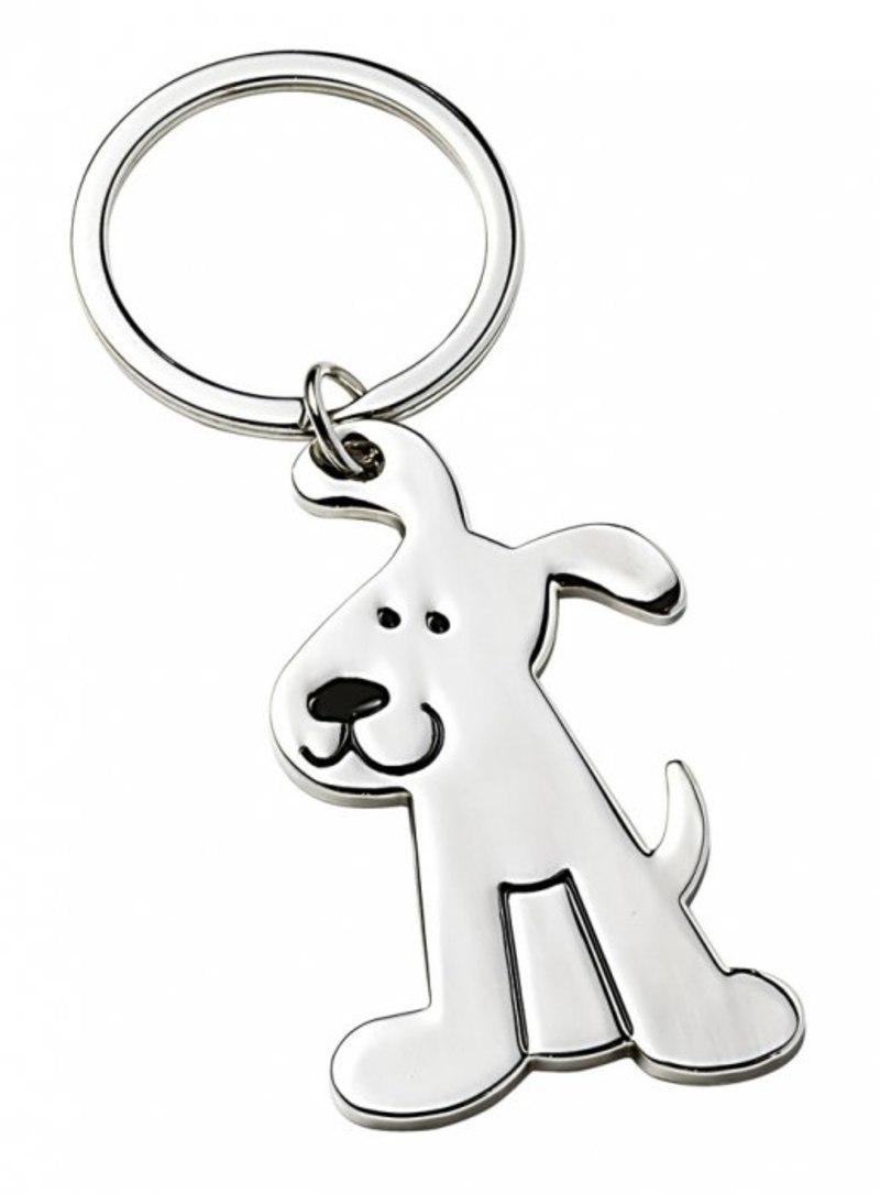 KEYCHAIN METAL SHINY DOG - NO BOX