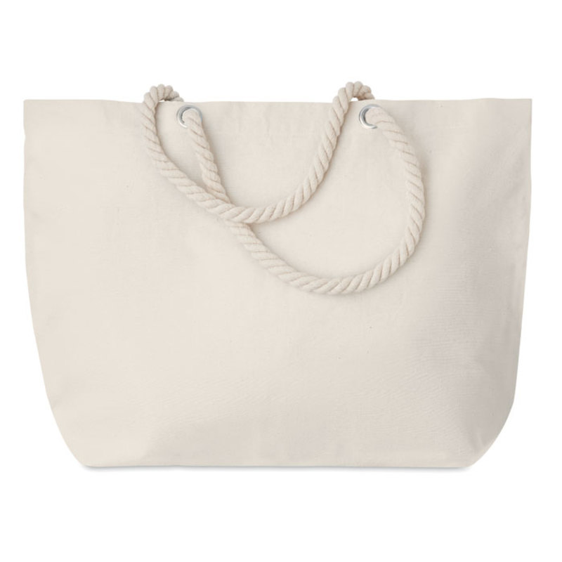 Beach bag with cord handle