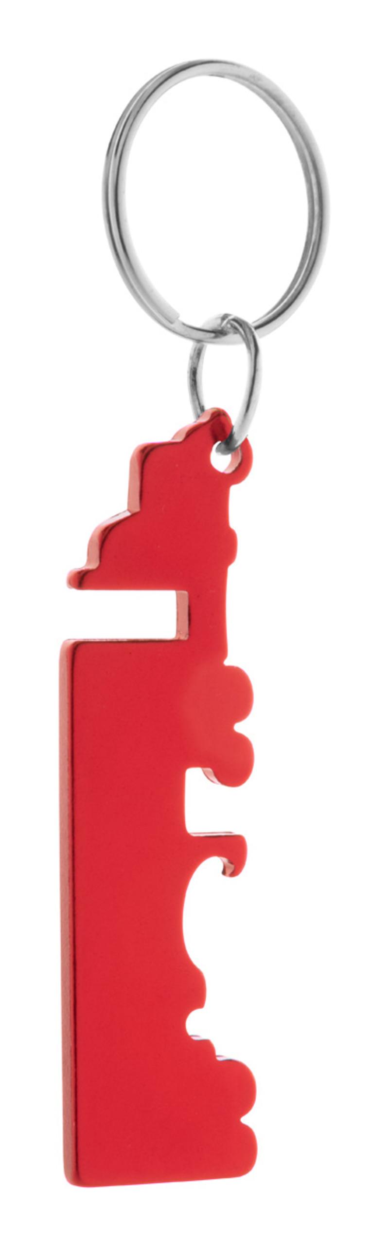 Peterby bottle opener keyring