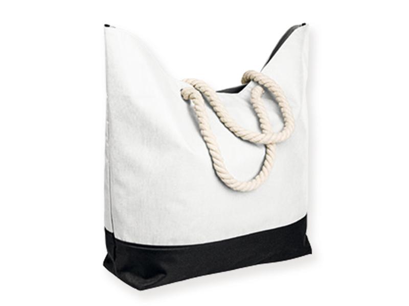KENZA polyester beach bag, 600D, White