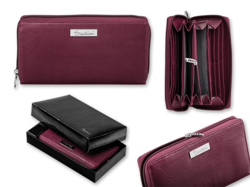 KIARA women's purse, SANTINI, Burgundy