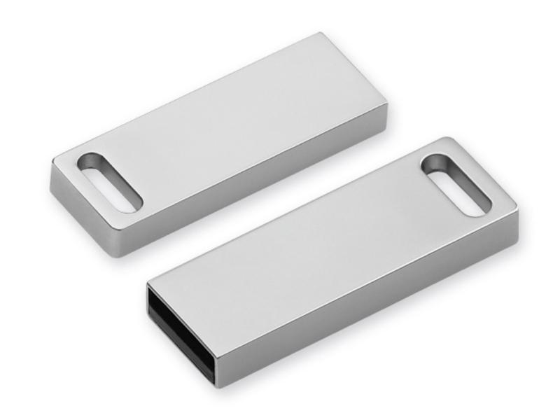 USB FLASH 52 metal USB FLASH 8 GB supporting interface 2.0, Satin silver
