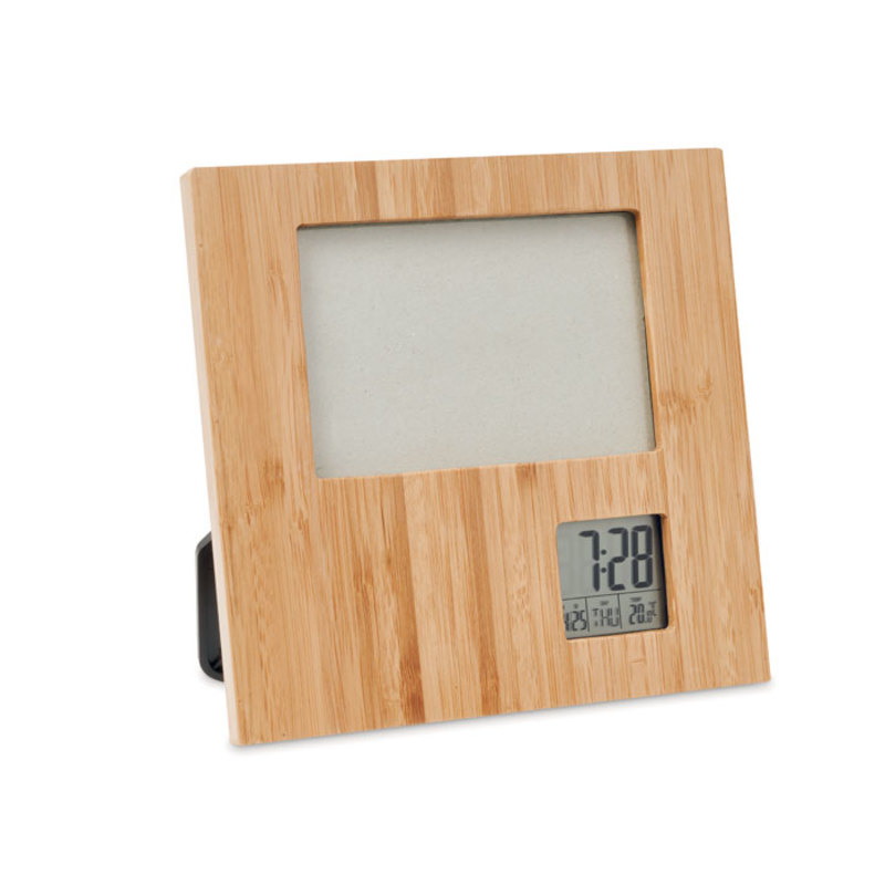 Photo frame with weather statio