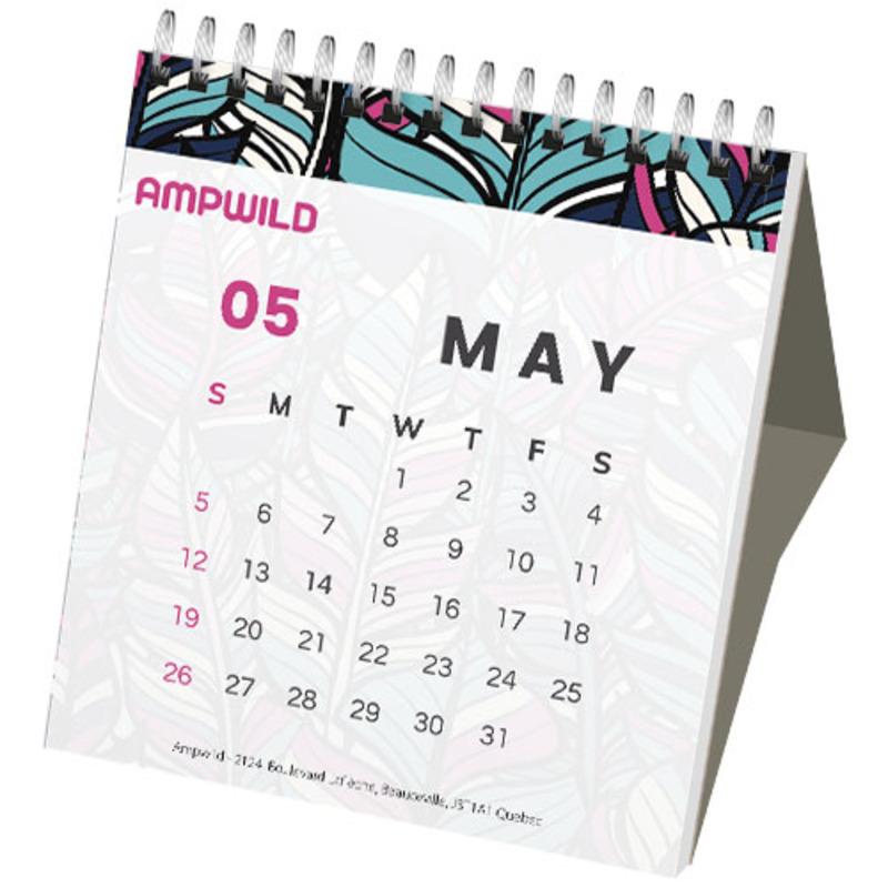 Classic monthly desktop calendar hard cover