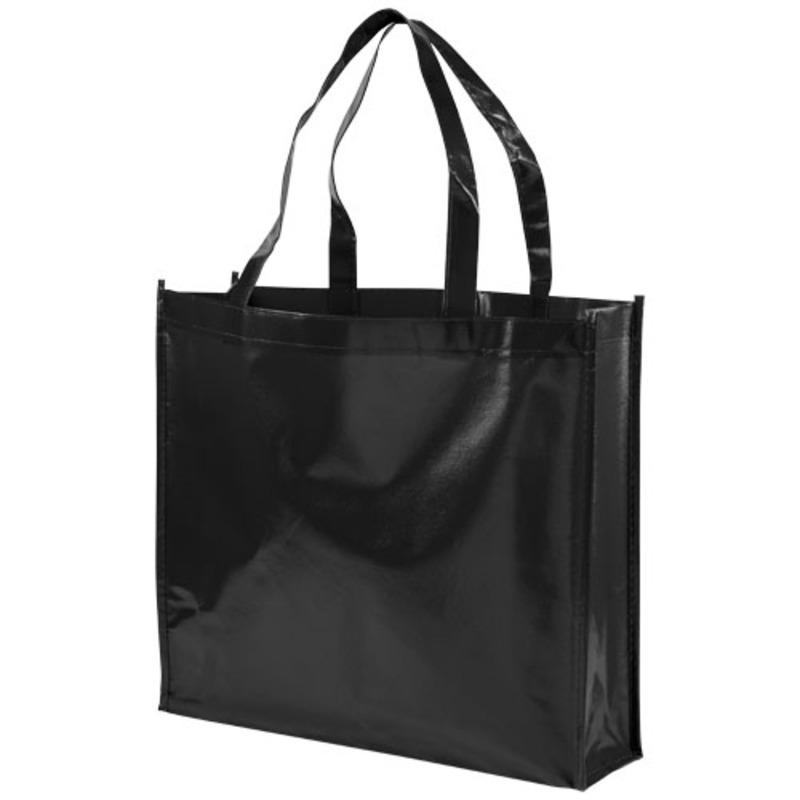 Shiny laminated non-woven shopping tote bag