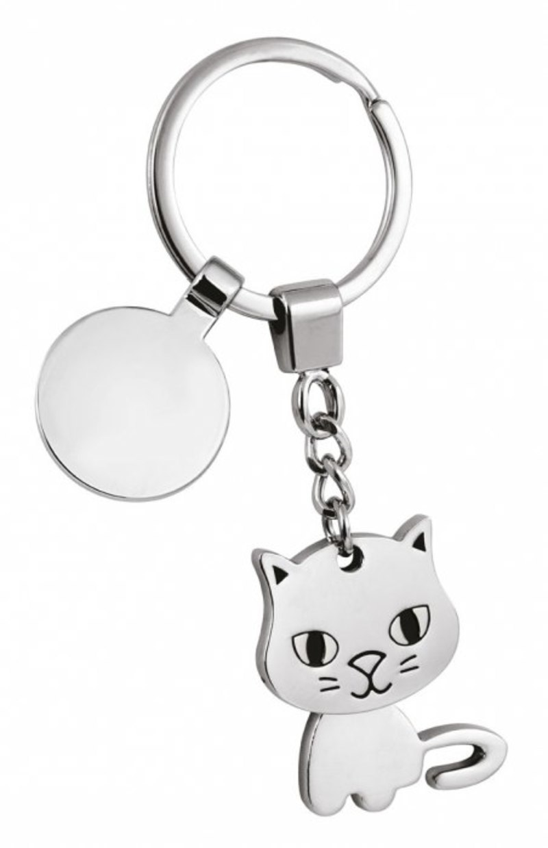 KEY CHAIN CAT TWISTED/COIN-NO BOX