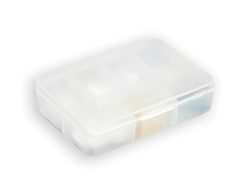 PILLIN plastic medicine box, 7 compartments, White