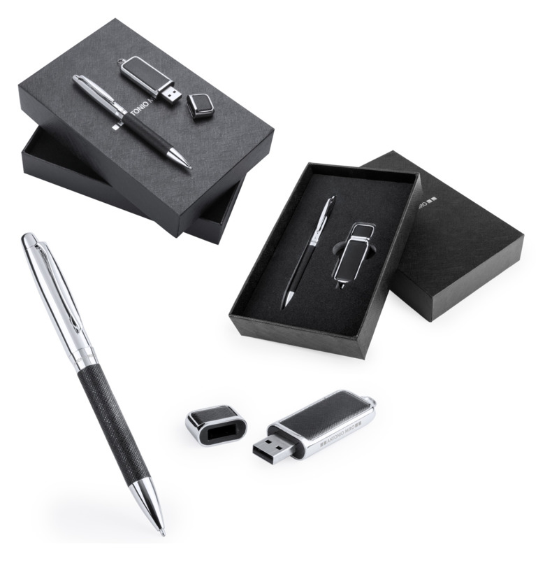 Dermop pen and USB flash drive set